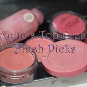 Anita's Picks: Top Cream Blushes