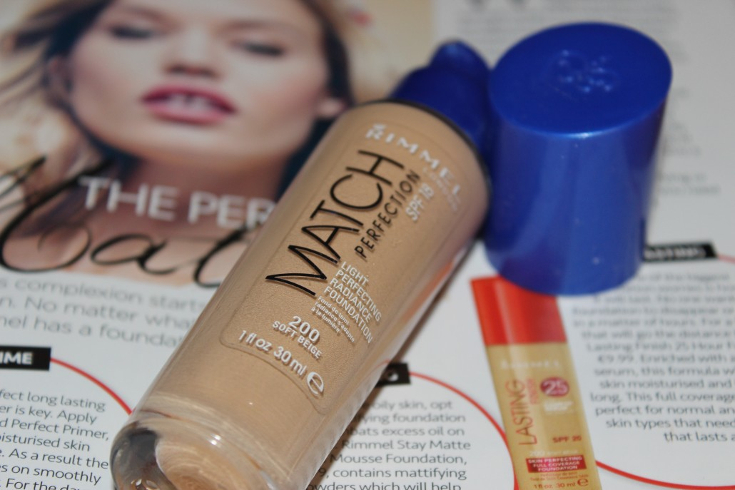 Rimmel foundation match perfection