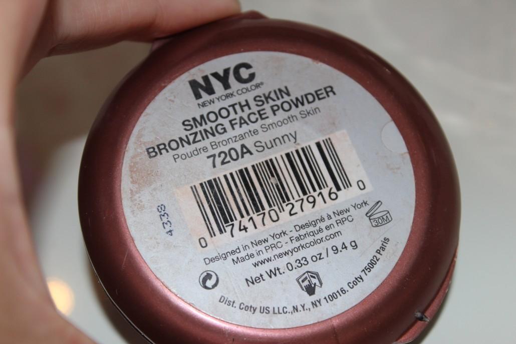 Oct 15 Favourites NYC Sunny bronzer back