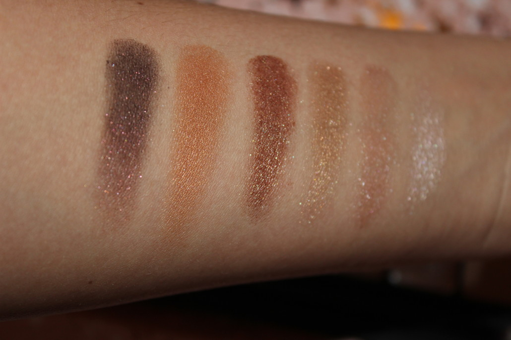 Sleek I Lust Palette Golden Standard Swatches