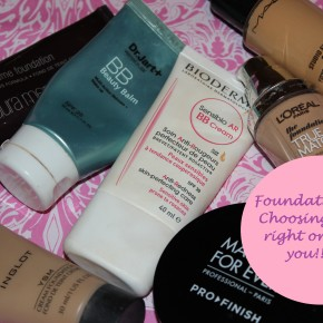 Foundation 101: Choosing the right one for you!